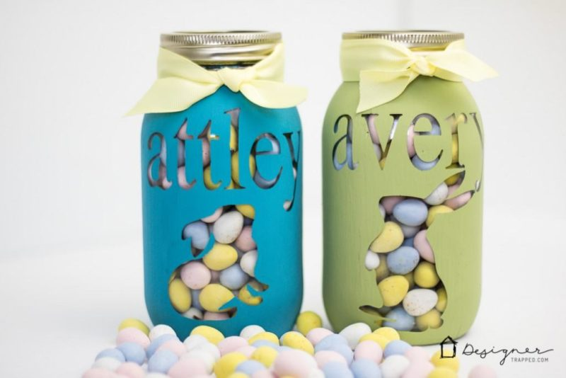 Easter Mason Jar with Names