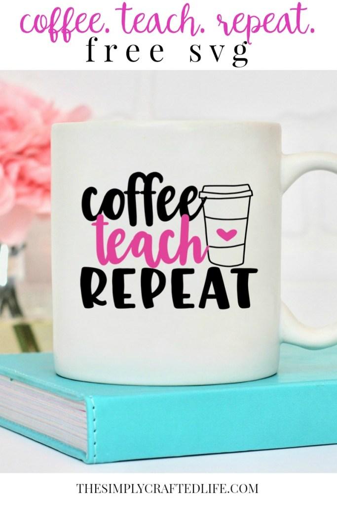 free teacher svg on mug