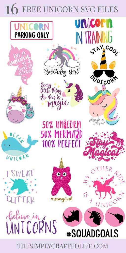 free unicorn svgs