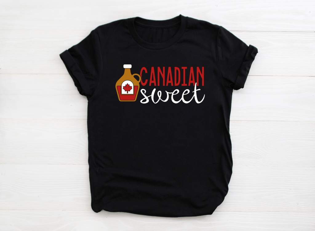 Canadian Sweet Maple Syrup Shirt Design
