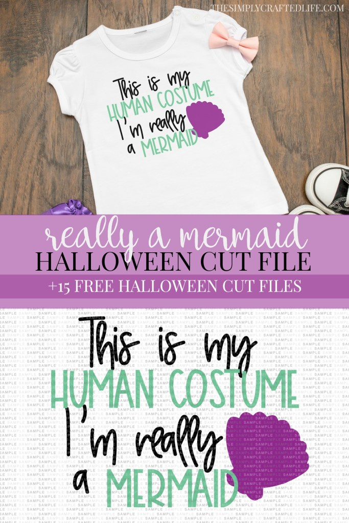 I'm Really a Mermaid Free Halloween SVG