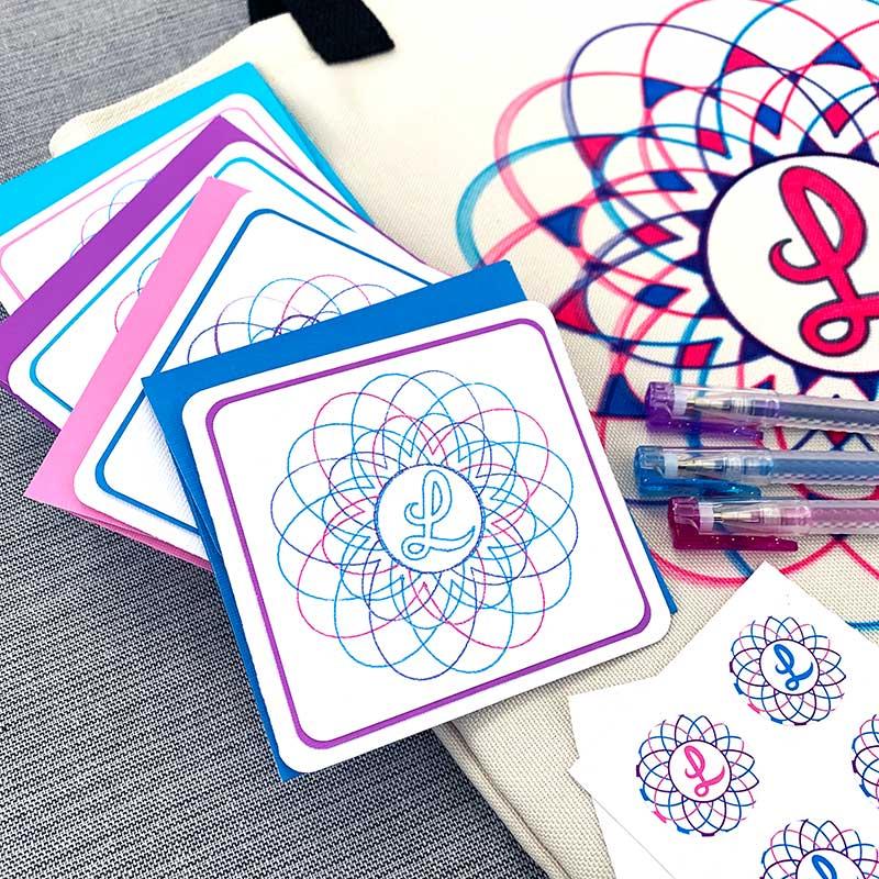 monogram stationery set personalized christmas gifts