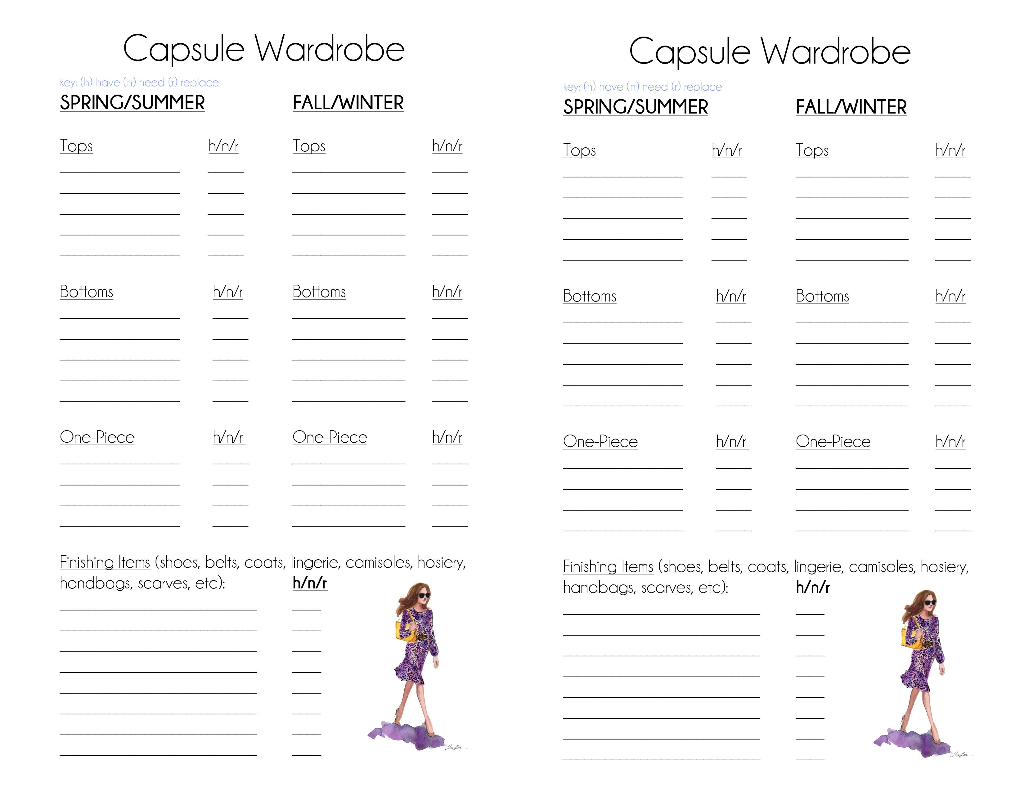 Classic Capsule Wardrobe Planner The Simply Luxurious