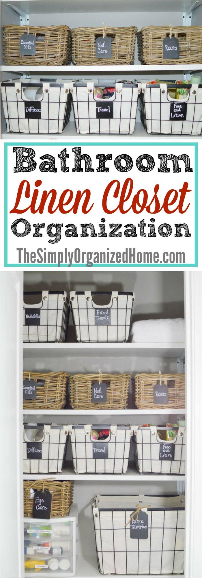 Bathroom Linen Closet Organization The Simply Organized Home