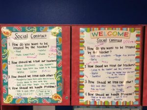 classroom anchor chart listing classroom expectations