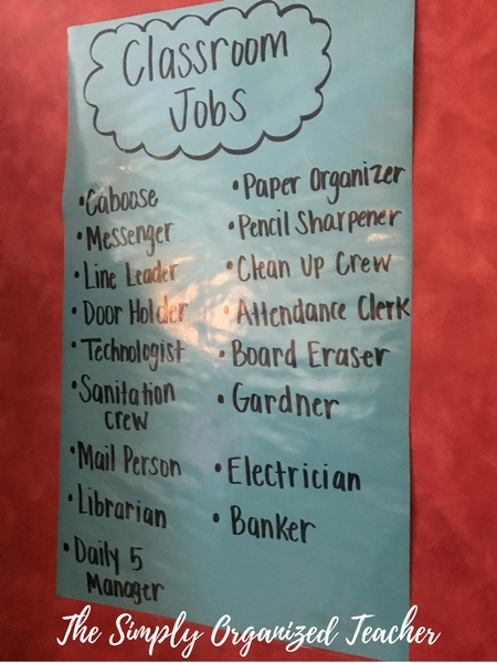 Classroom Management Series: Classroom Jobs are a great way to give your students ownership and it helps you out with all the daily tasks of keeping a clean and organized classroom. This post shares how I manage classroom jobs