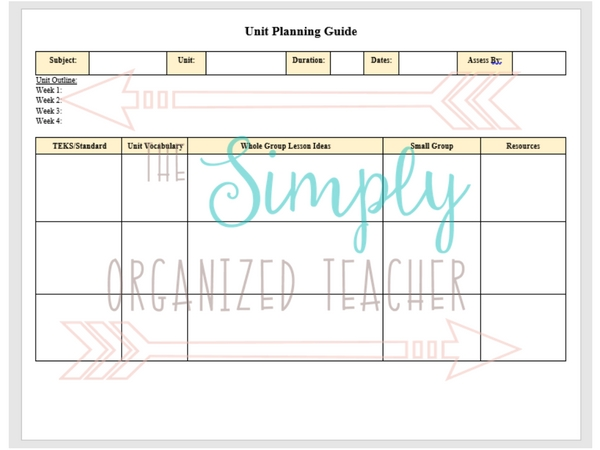 Rti Lesson Plan Template By Monique Grimes Teachers Pay Teachers
