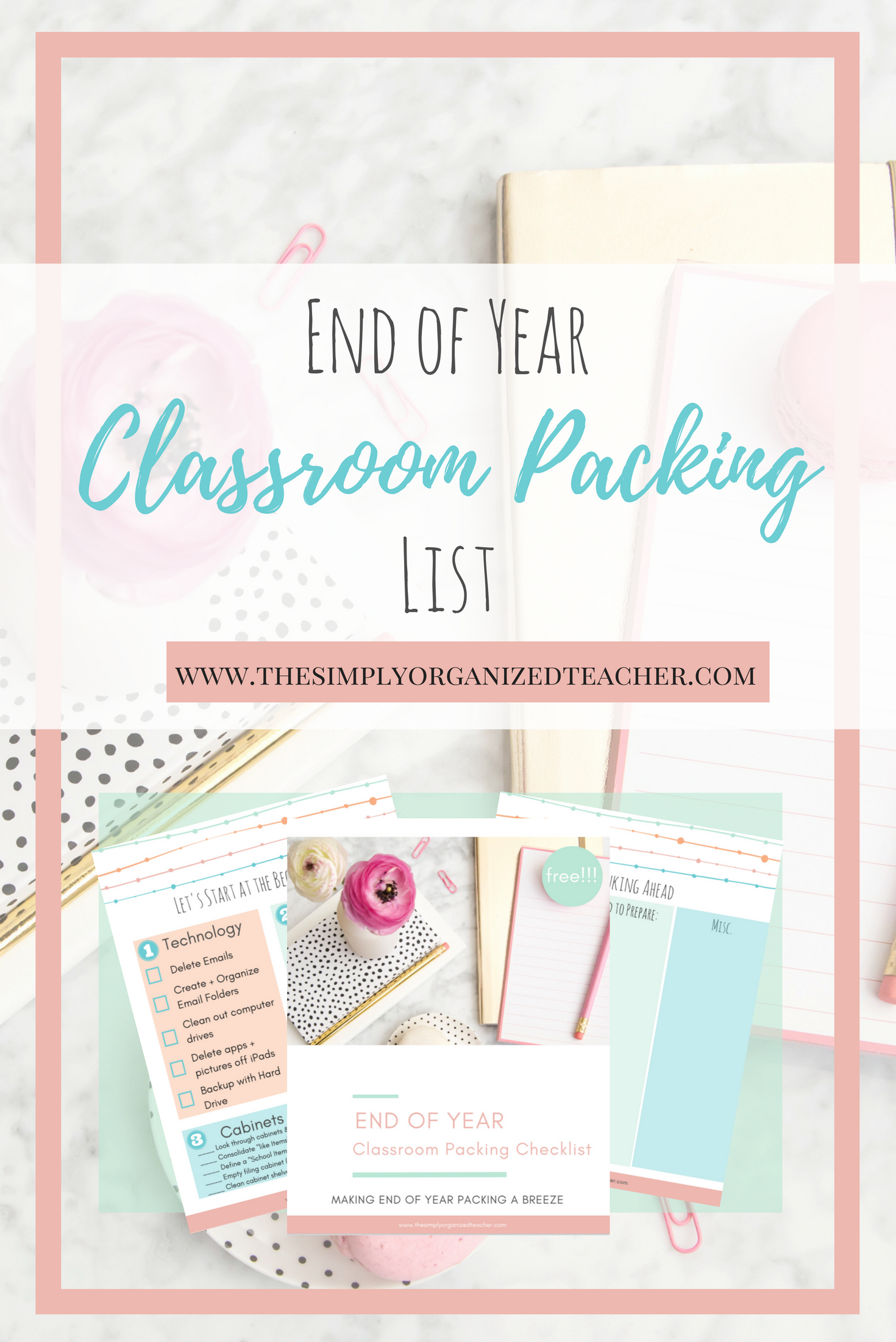 End of Year Classroom Packing List