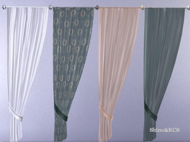 Elegant Bathroom Curtain Sheer