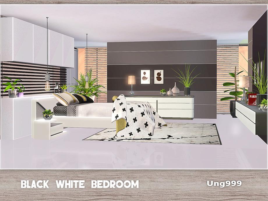 ung999 s black white bedroom