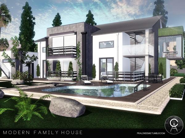Pralinesims Modern Family House