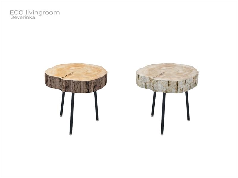 eco livingroom wood coffee table