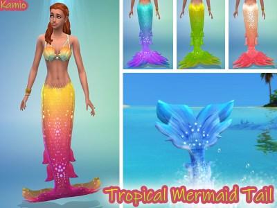 Radea's Tropical Island Living Mermaid Tail Recoulour