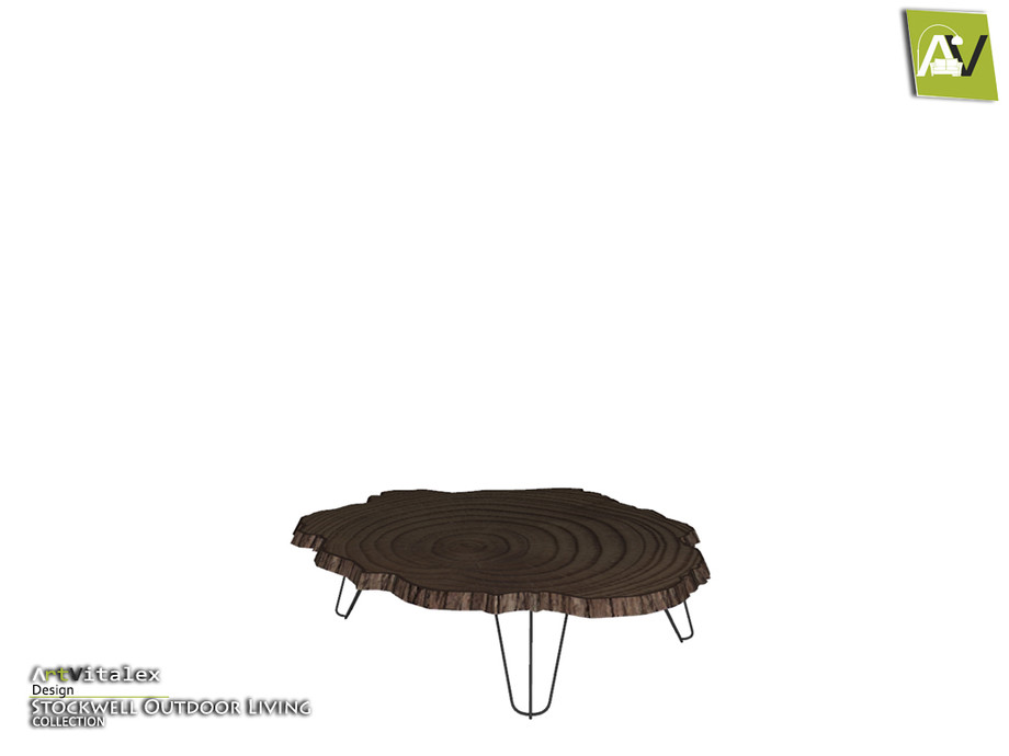 stockwell wood slab coffee table