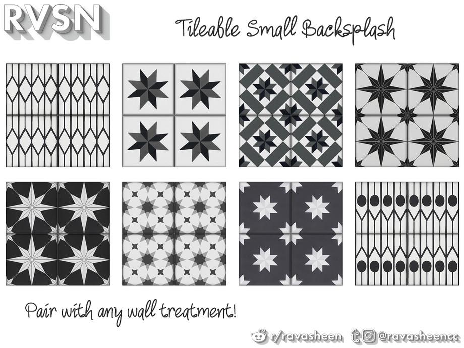 all tile backsplash small monotones