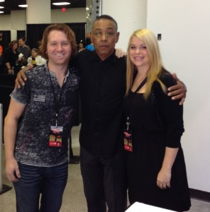 Us with Breaking Bad star Giancarlo Esposito