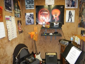 His guitar lesson room