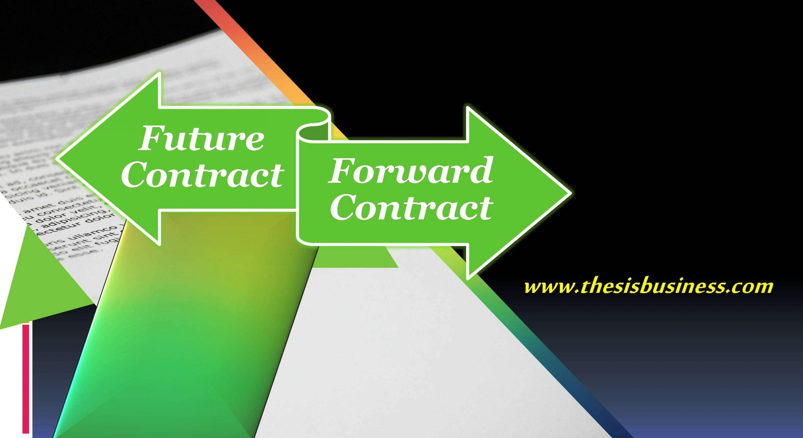 Difference between Futures and Forward Contract