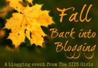 Fall Back Into Blogging event by the SITS girls