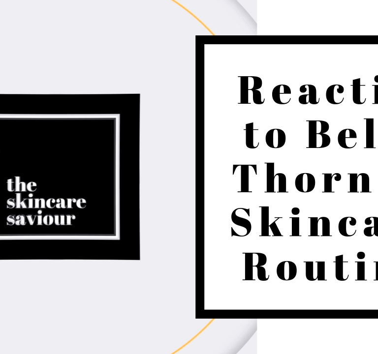 Reacting to Bella Thorne's Skincare Routine