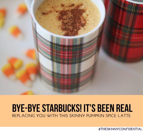 The Skinny Confidential shares a skinny pumpkin spice latte.