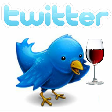 Twitter logo with wine