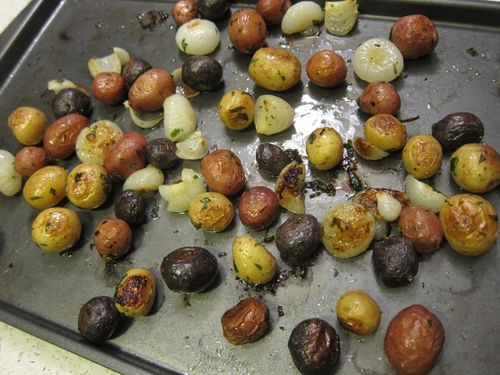 Potluck potatoes browned (2)