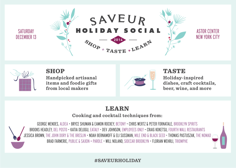 Saveur Holiday Social Sounds Awesome
