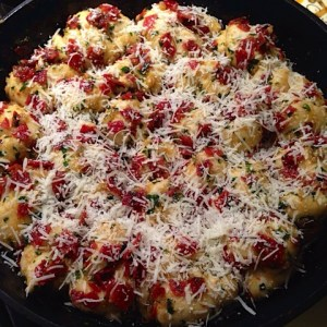 Pepperoni knots cheese