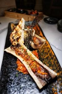 Herbed Bone Marrow w Kimchi