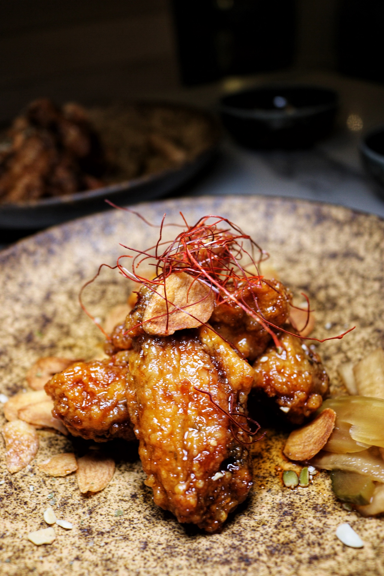 Korean Fried Chicken Wings The Bari NYC