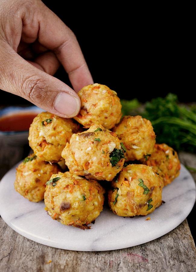 Salmon Meatballs- Fishy, Huh!  with Good Benefits