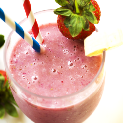 Vegan-Dairy Free 2 Ingredient Strawberry Smoothie