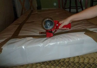 Step 2 Wrap Your Mattress In Plastic