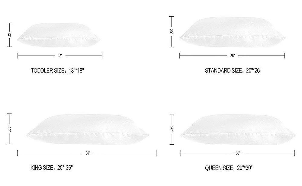 size of a standard pillow case