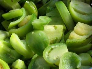 A classic pickle: green tomatoes