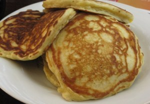 The finished pancakes make a handsome presentation