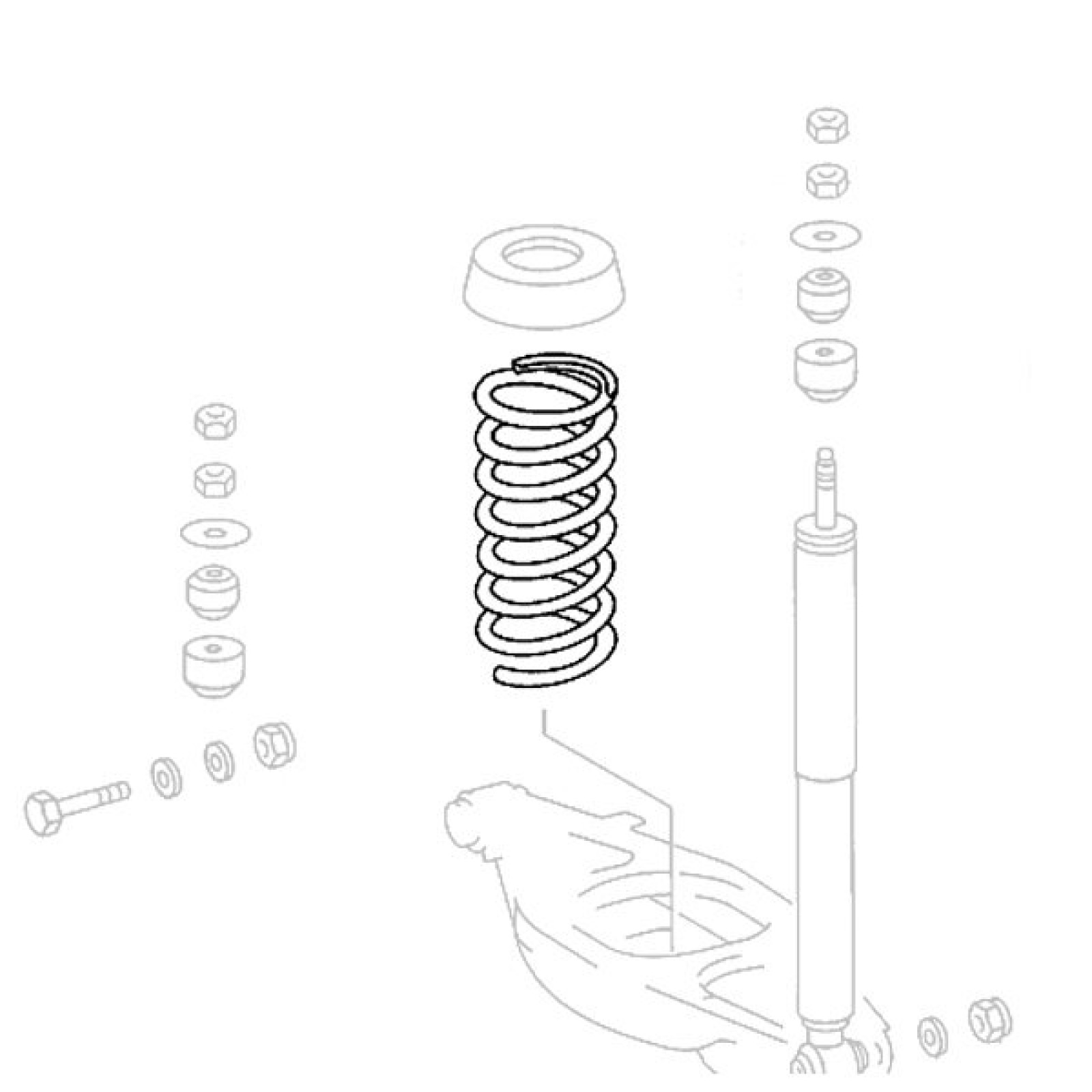 Mercedes Benz Sl R129 Rear Suspension Spring