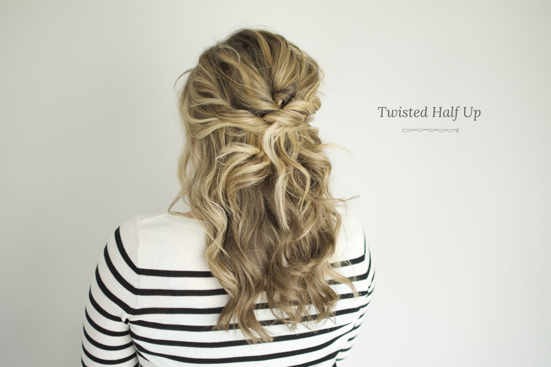Twisted Half Up Tutorial – The Small Things Blog