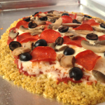 Quinoa Crust Pizza / The Small Town Foodie