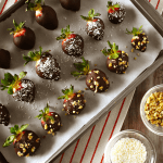 Dark Chocolate Covered Strawberries | The Small Town Foodie
