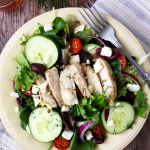 Chicken Greek Salad / The Small Town Foodie