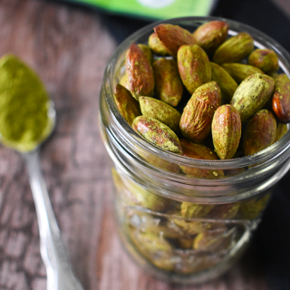 Honey Matcha Roasted Almonds + Recipe Contest!