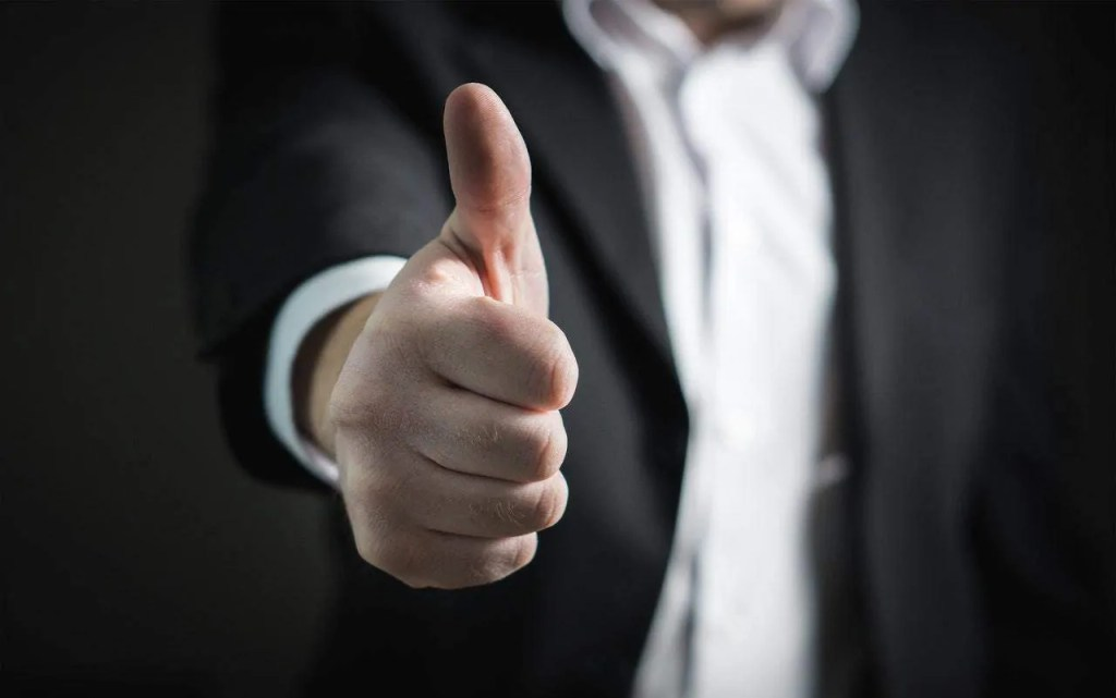 business thumbs up agreement