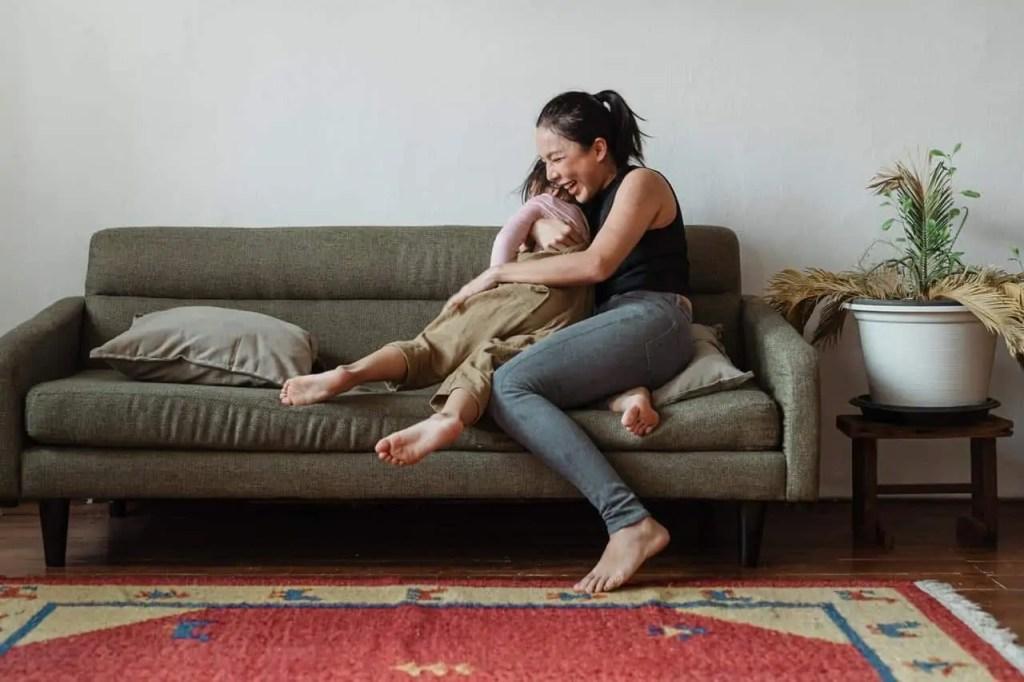 sofa mom kid