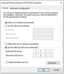 Cloudflare DNS servers