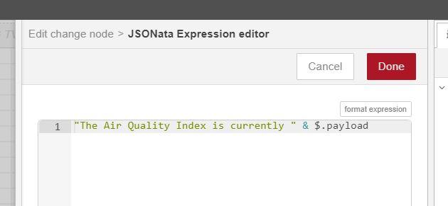 AQI JSON editor