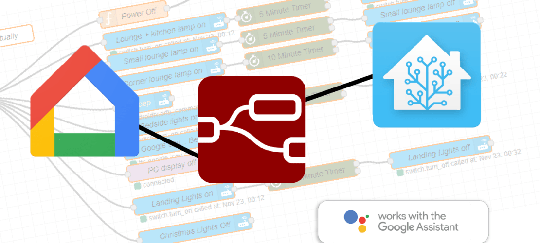Creating Custom Google Home entities for integration with Home-Assistant & Node-red
