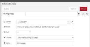 Cpu usage mqtt node