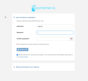 Portainer Installed on Proxmox